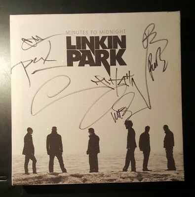 Chester Bennington Autograph Linkin Park Band Signed Minutes To Midnight Canvas