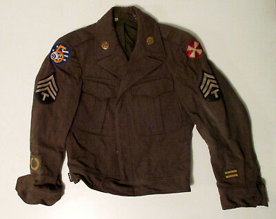 WW2 5th Air Force 8th Army Patch Ike Jacket Signal Corps