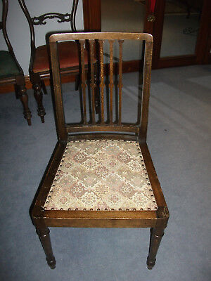 203 - Edwardian Mahogany Hall Chair