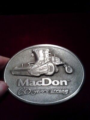 Special Macdon 60 Years Tractor Equipment Agriculture Belt Buckle!!