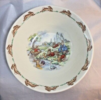 Royal Doulton Bunnykins Playing in River Coupe Cereal Bowl Made England, no box