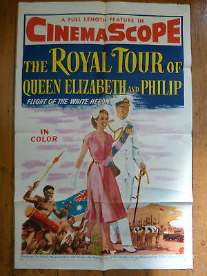 The Royal Tour of Queen Elizabeth and Phillip original US 1 Sheet poster 1954