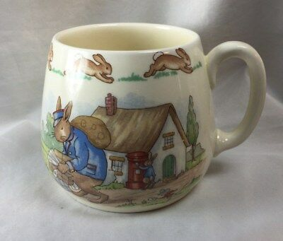 Royal Doulton Bunnykins Postman Deliver One Handle Mug Made England, no box