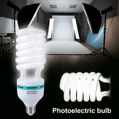 E27 5500K Photography Daylight Bulb Fluorescent Studio Accessory 45/105/115/135W