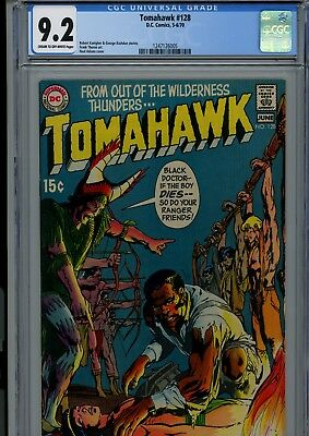 Tomahawk #128 Cgc Nm- 9.2 Cream/ow Pages Neal Adams Cover