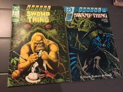 The Swamp Thing Annuals #3 & #4 (DC 1987/88) FN