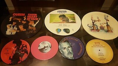 Queen Picture Discs Vinyl. Freddy Mercury Brian May Rodger Taylor