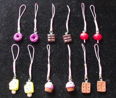 Wholesale Joblot 12 Pink Handbag/mobile Phone Charms, Gifts,party Bags,retail