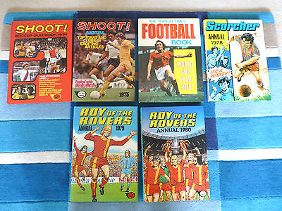 Shoot,topical Times,scorcher,roy Of The Rovers-6 Nr Annuals-1974,75,78,79, & 80