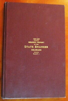 Rare 1907-08 State of Colorado Engineering Photo Report Book Western Expansion