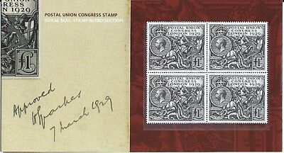 2010 PUC Royal Mail Stamp Reproduction Pack of 1929 £1