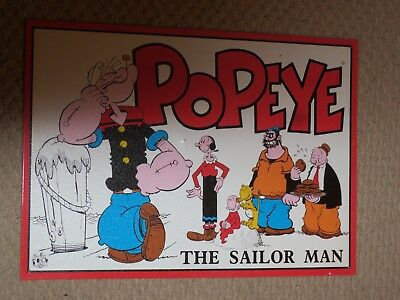 METAL SIGN Popeye the Sailor Man Classic Poster Home Decor Wall Art 1996