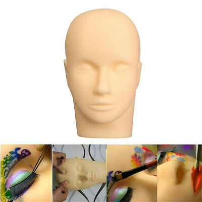 Mannequin Flat Head Practice Make Up Massage Training Model Eyelash Extension FG