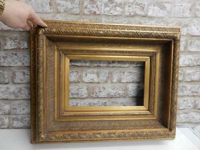 """VINTAGE old PICTURE FRAME gesso fits a 12 inch X 8 """" painting"""