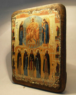 Handmade copy ancient ORTHODOX ICON of Jesus Christ Prayer 166L