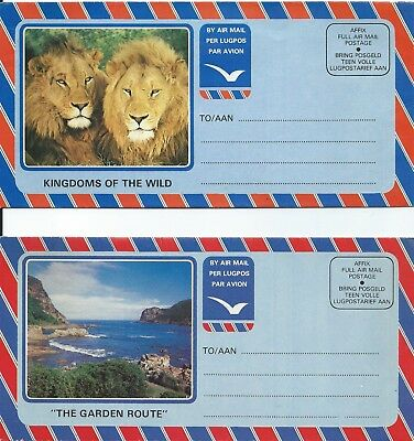 Two Air Mail folders from South Africa (unused)