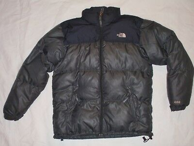 Boy XL X-large 18 North Face 600 Fill Black Goose Down Puffer Parka Coat Jacket