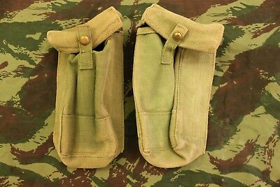 PAIR (2x) WW2 British Army 1937 Pattern webbing Bren MKI MKII P37 Pouches
