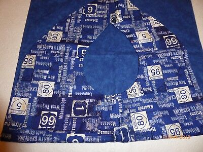 "Adult Bibs / cover-ups for adults, seniors, disabled/ bibs; ""Blue Interstate"""