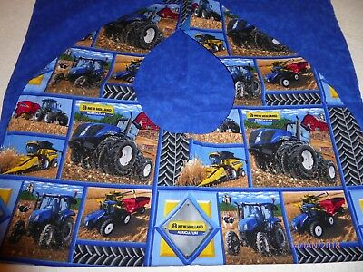 "Adult Bibs / cover-ups for adults, seniors, disabled/ bibs; ""Blue Tractors"""