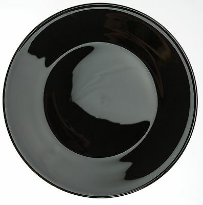 Plate - Dinner / Luncheon - Black Glass - Mosser USA - Large