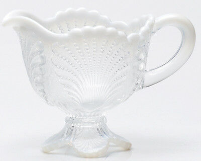Creamer - Beaded Shell - Crystal French Opalescent Glass - Mosser USA