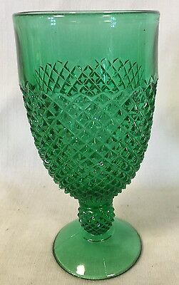 Goblet - Addison - Emerald Green Glass - Mosser USA