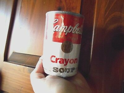 Vintage Campbells Crayon Soup 36 Crayons sealed in Can HTF