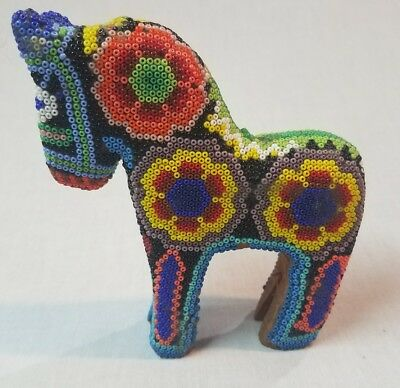 Vintage Mexican Handmade Beaded Horse/Donkey Figure