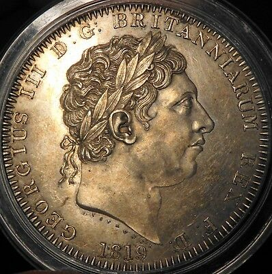 1819 George Iii Crown Without Stops Listed As R3 In Esc