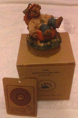 "NIB Boyds Bears & Friends The Boydsenbeary patch ""Icabod"" 1 3/4"" candle topper"