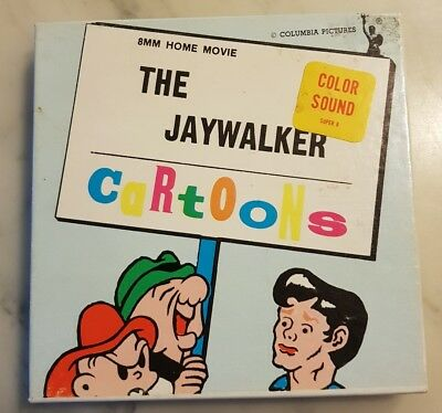 The Jaywalker Cartoons - Super 8 Colour sound home movie Columbia Pictures