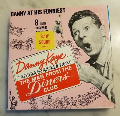 Danny Kaye 'The Man from the Diners Club' Super 8 B&W sound home movie
