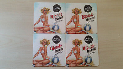 4 Retro style microbrewery beer coasters from Australia