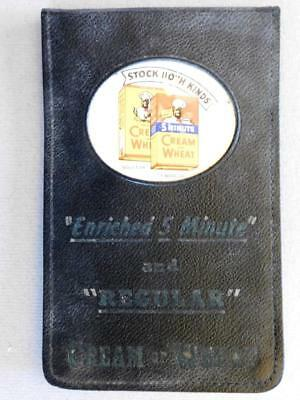 Vintage Cream of Wheat Receipt Notebook Black American Logo in color B1S3