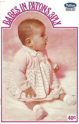Vintage Patons Baby Knitting Patterns 70s Booklet - Book 957