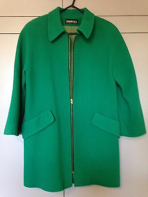 80's / 90's green pure wool coat