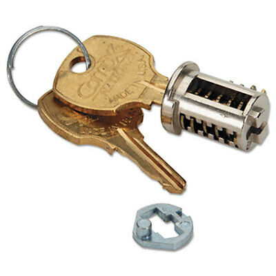 HON F23CX Removable Cabinet Lock Core Replacement Kit, Brushed Chrome w/ Keys