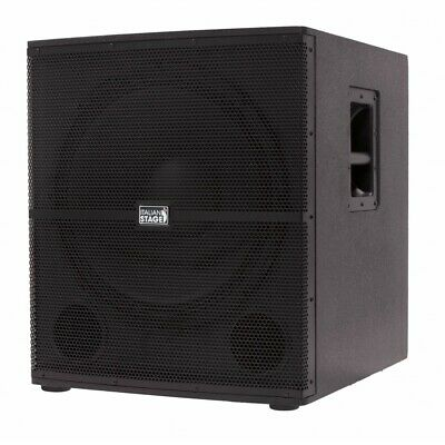 Italian Stage IS S118A Subwoofer Attivo 700w classe AB 18p. 2 canali In Out Nero