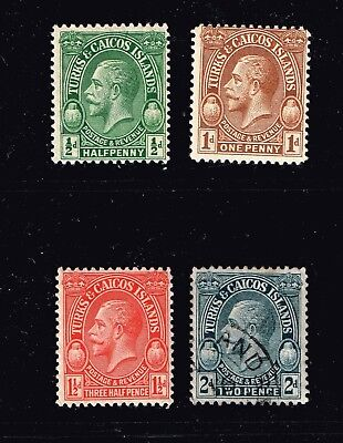UK STAMP Turks And Caicos Islands  King Edward VII  MH/OG AND USED STAMPS LOT