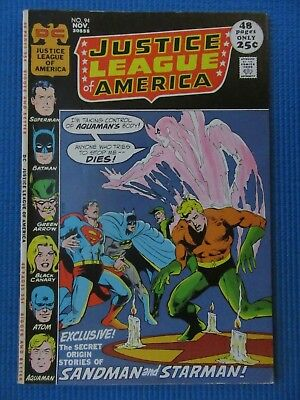 Justice League Of America # 94 - (Vf-) - Neal Adams/ Deadman//batman/sandman