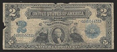 1899 Fr 249 $2 Silver Certificate! Lyons-Roberts-Low Grade