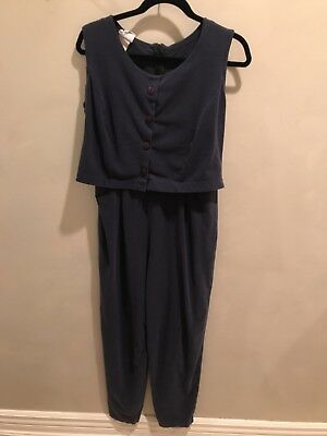 Japanese Weekend Jumper Pants Suit Navy Blue Maternity Nursing