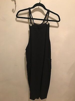 Japanese Weekend Nursing Jumper dress Medium Black