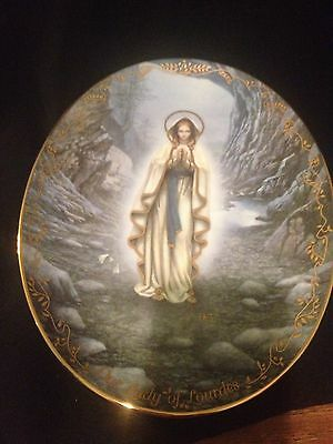 Bradford Exchange Our Lady Of Lourdes Collector Plate Limited Ed.