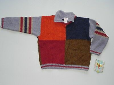 Oilily boys retro wool blend jumper Sz 104 3 - 4 yrs Rare 1980's era Oilily NWT