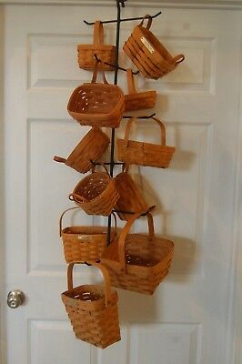 Hand Made Wrought Iron Hanging Tree Hanger For 12 Longaberger Baskets Scarves