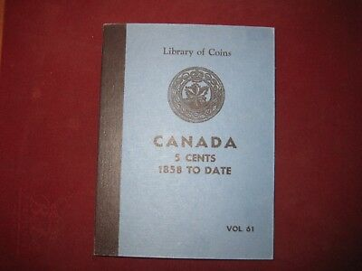Canada Nickels Collection 1922 to 1976 in RARE Library of Coins Album 58 Coins