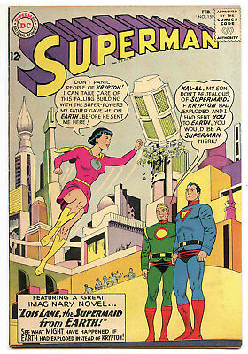 JERRY WEIST ESTATE: SUPERMAN #159 (DC 1963) FN/VF condition NO RES