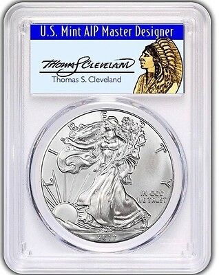 2017-W $1 Silver Eagle PCGS SP70 First Strike Thomas Cleveland Chief POP 150